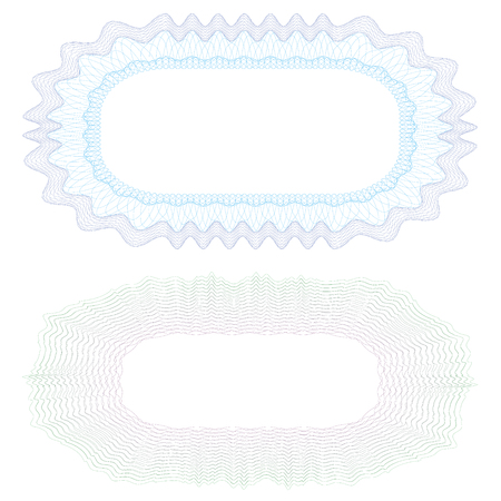 Watermark, guilloche design for background certificate, diploma.