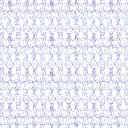 Guilloche security line for background certificate Illustration