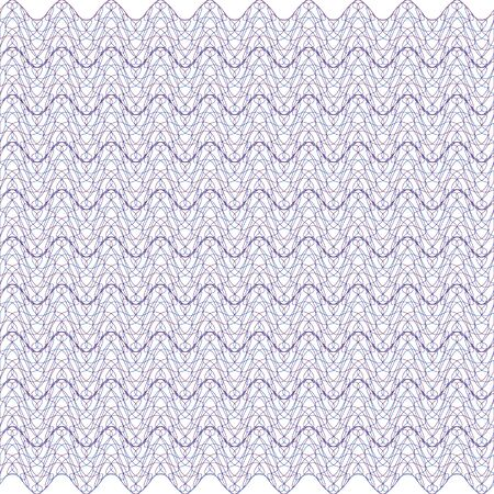 Guilloche lines security background for certificate, watermark design element, Ilustracja