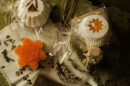 Sparkling muffin and soaps made of natural products.