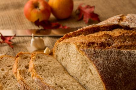 A fresh loaf of bread.
