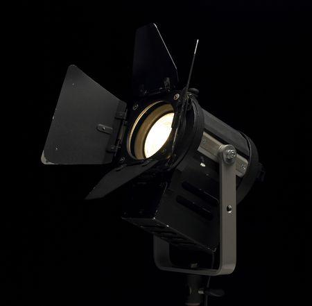 watt: A theatrephotomovie lamp heading upwards. Stock Photo