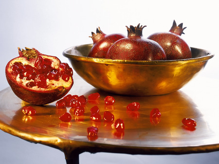 judaica: Juicy ripe pomegranates