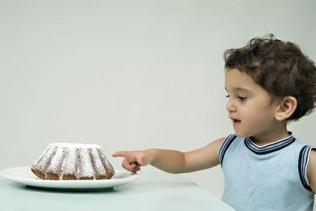 child and coffee cake Stock Photo - 1997373