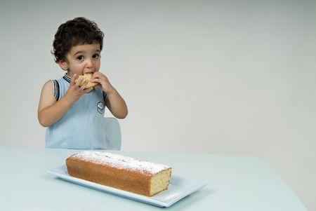child and coffee cake Stock Photo - 1997372