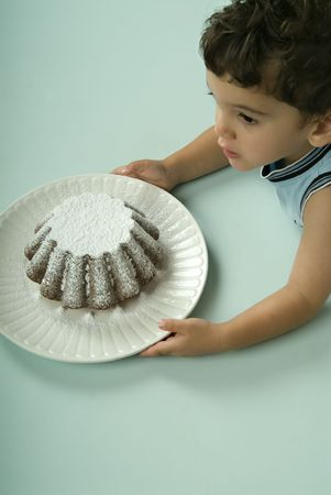child and coffee cake Stock Photo - 1997374