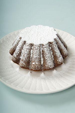 pound cake: pound cake with powdered sugar Stock Photo