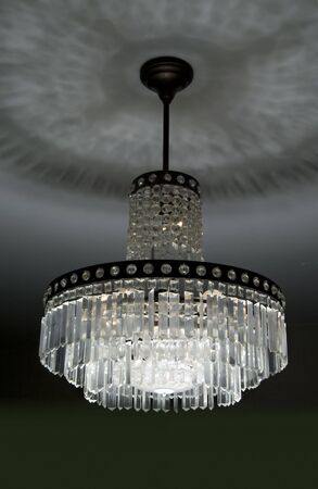 painterly effect: retro crystal chandelier