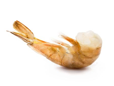 headless uncooked (raw) shrimp photo