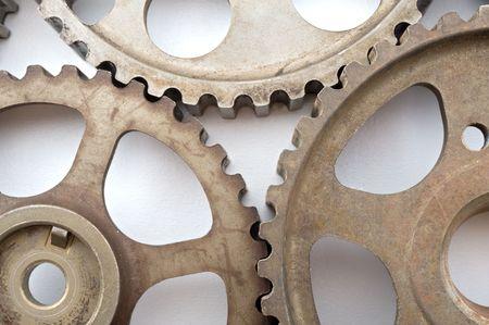 three cogwheels isolated on white Stock Photo - 3222661