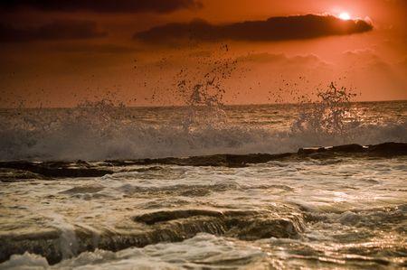 beautiful sunset at the beach Stock Photo - 3271697