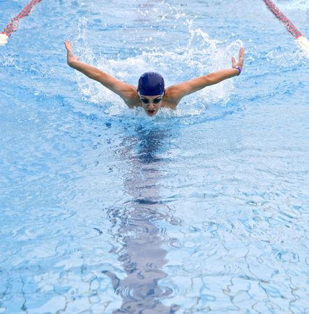 teenager swimmer in a  stroke Stock Photo - 3323769