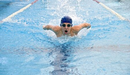 teenager swimmer in a  stroke Stock Photo - 3323783