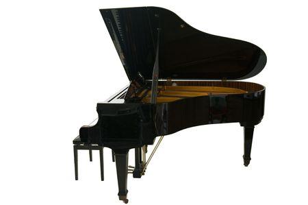 pokrywka: fortepian grand otwarte skrzydła wyizolowanych na białym tle