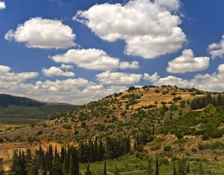 galilee: Hazon mountain in the Galilee from north to west Stock Photo