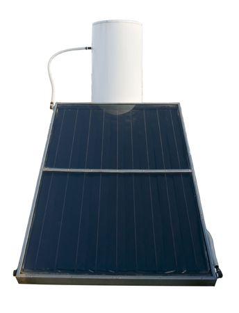 convection: l'energia solare di acqua calda sanitaria isolati su bianco Archivio Fotografico
