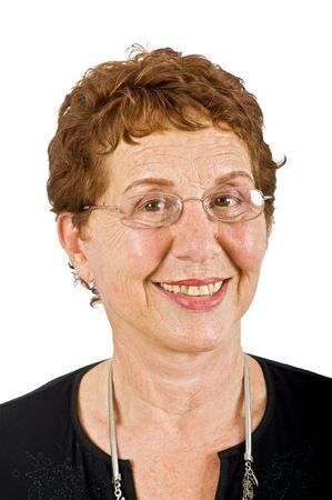 closeup  portrait off a senior businesswoman isolated on white Stock Photo - 3527782