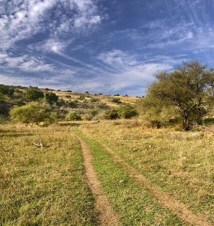 lonley path in a valley in vadi nachal amud, Galilee Isreal photo