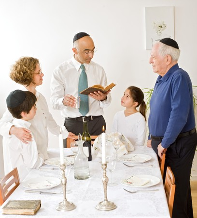 friday evening Jewish family celebration photo