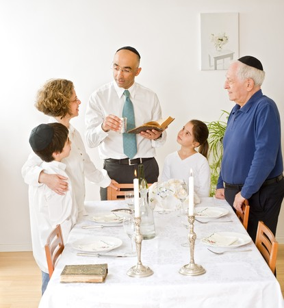 friday evening Jewish family celebration Stock Photo - 4037874