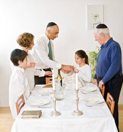 friday evening Jewish family celebration Stock Photo - 4037878