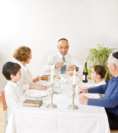 friday evening Jewish family celebration Stock Photo - 4037870