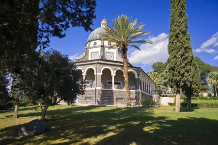 consecrated: Roman Catholic Franciscan chapel on Mount of Beatitudes in the Galilee