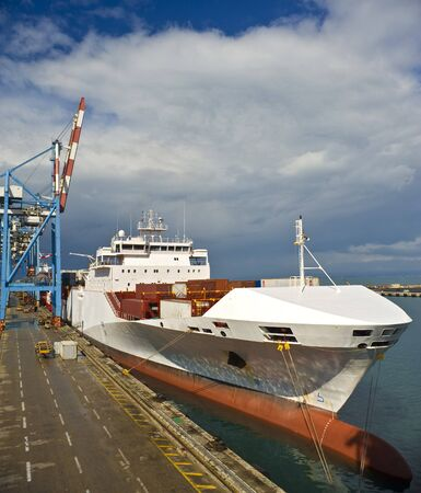 cargo ship at dock  Stock Photo - 4437958