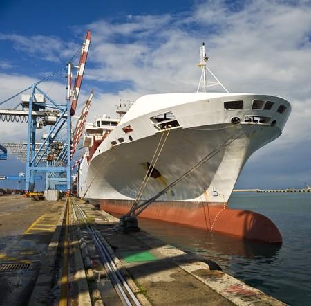 cargo ship at dock  Stock Photo - 4437989