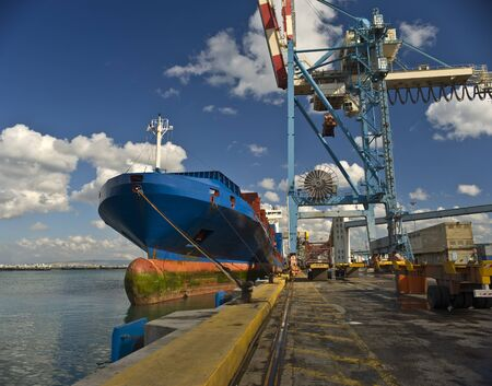 cargo ship at dock  Stock Photo - 4438011