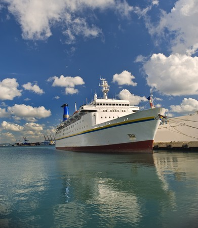 cruise ship at Haifa port, Israel Stock Photo - 4437976