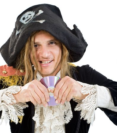 pirate bending a CD photo