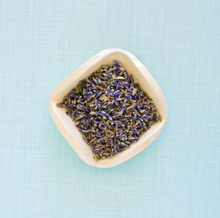 dry lavender flowers in a square ceramic plate Stock Photo - 4992820