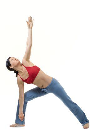 40 years old women exercising bikram hot yoga