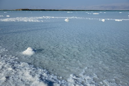 Dead Sea landscape in Israel Stock Photo
