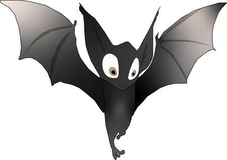 Illustration of Cartoon Halloween bat Ilustração