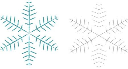 Snowflake Icon graphic.Winter snowflake sign. Air conditioning symbol. Colorful outline concept. Фото со стока