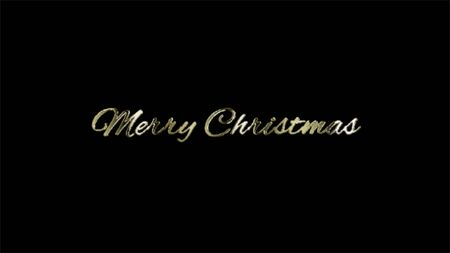 Merry Christmas - Black Background celebration greeting banner, Abstract typography poster.