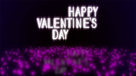 Happy Valentine's Day illustration. Abstract Purple, Violet and Lilac Textured