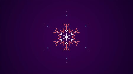 Snowflake Christmas design background, Cutout pattern of Christmas or New Year decoration. Background illustration for greeting card, banner and other holiday media.