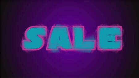 Neon sale sign, Light background for your advertise, discounts and business