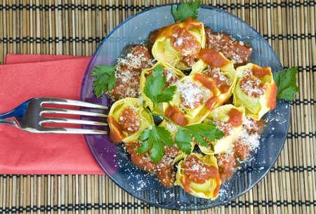 indulgent: yummy and indulgent lunch