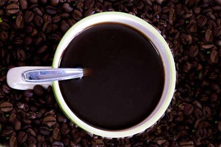 cafe colombiano: reci�n hechos caf� colombiano  Foto de archivo