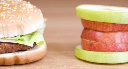 2 軽食、完全に反対 写真素材