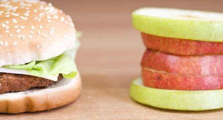 two snacks, completely opposite