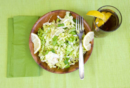 keep fit with this tasty healthy lunch Banco de Imagens