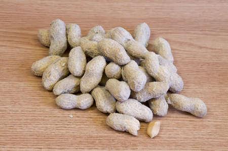 whole salted peanuts Stock Photo