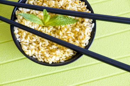 closeup on a bowl full of curry rice Banco de Imagens