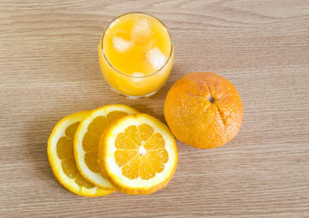 freshly squeezed organic oranges Stock Photo
