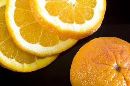 freshly sliced oranges and mandarins